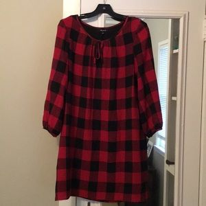 Madewell cutest red and black plaid dress!
